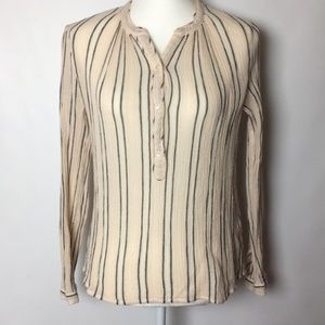Lucky Brand Stripe Button Up Top Size Small